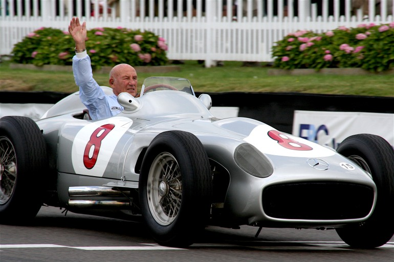 Stirling Moss at Aintree Racetrack
